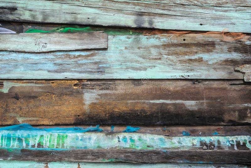 上色老面板土气飞溅木 免版税库存照片