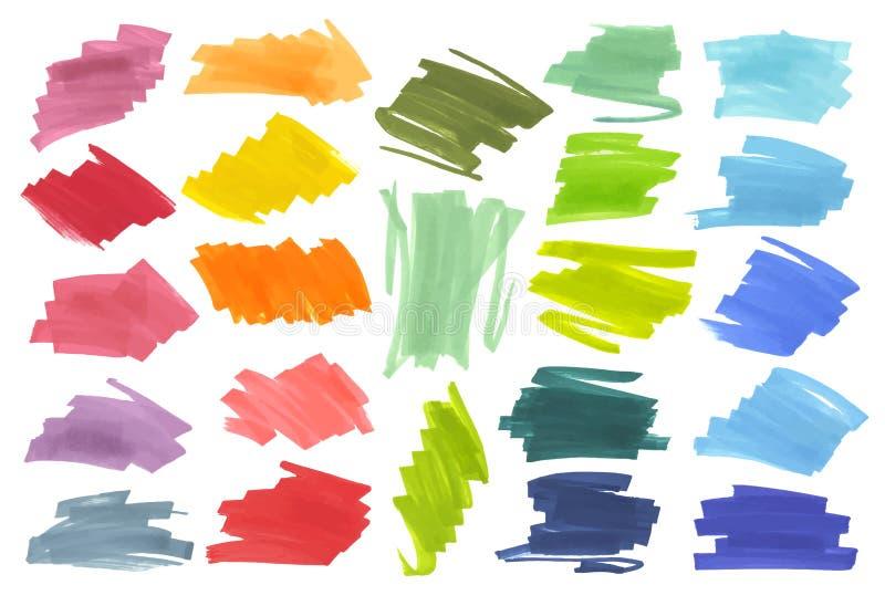 上色聚焦条纹,横幅画与日本标志 设计的时髦的聚焦元素 传染媒介聚焦 向量例证