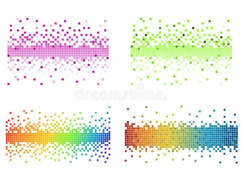 上色象素多种 向量例证