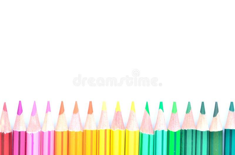 上色铅笔 免版税图库摄影