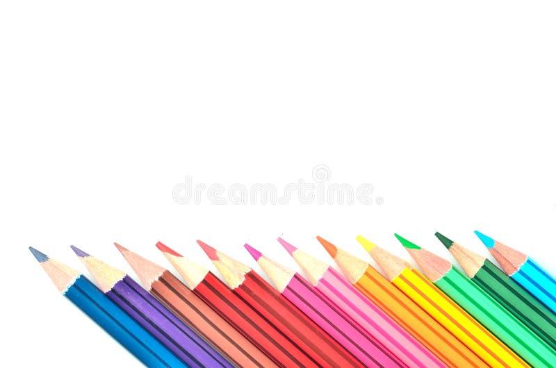 上色铅笔 库存照片
