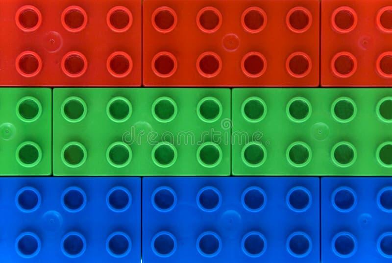 上色lego rgb 库存照片