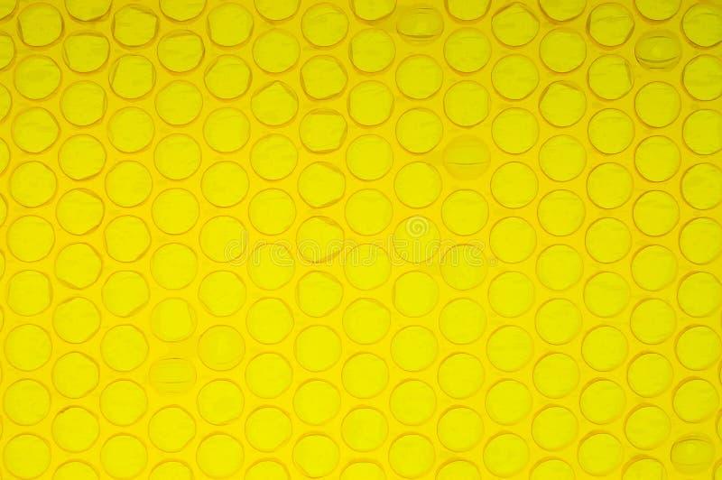 上色poping的黄色 免版税库存图片