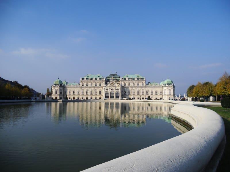 上部宫殿belveder在维也纳 免版税库存照片