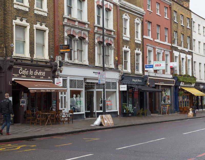 上部街道在伦敦 免版税库存照片