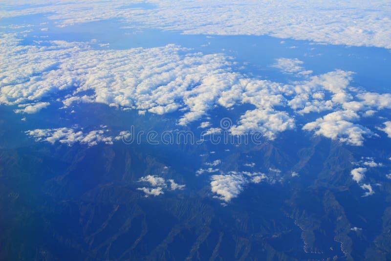 上部clound看法在日本的 库存照片