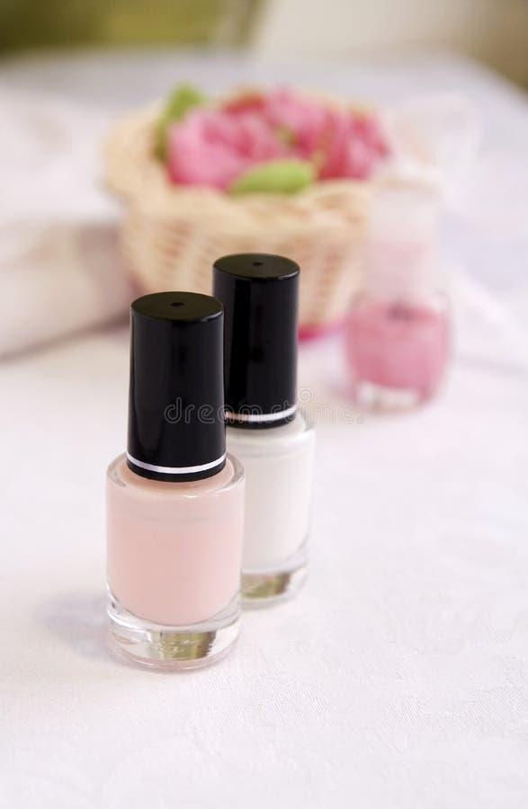 上釉法式修剪粉红色白色 库存照片
