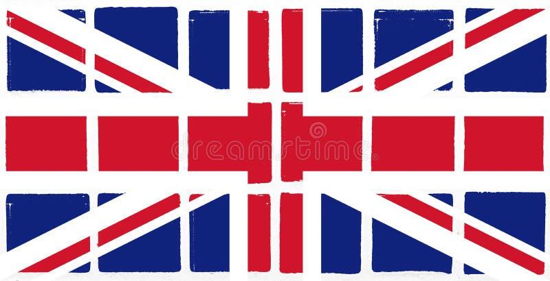 给上釉的瓦片英国旗子 皇族释放例证