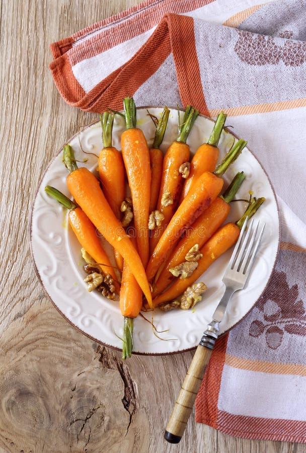 给上釉的红萝卜 免版税库存图片