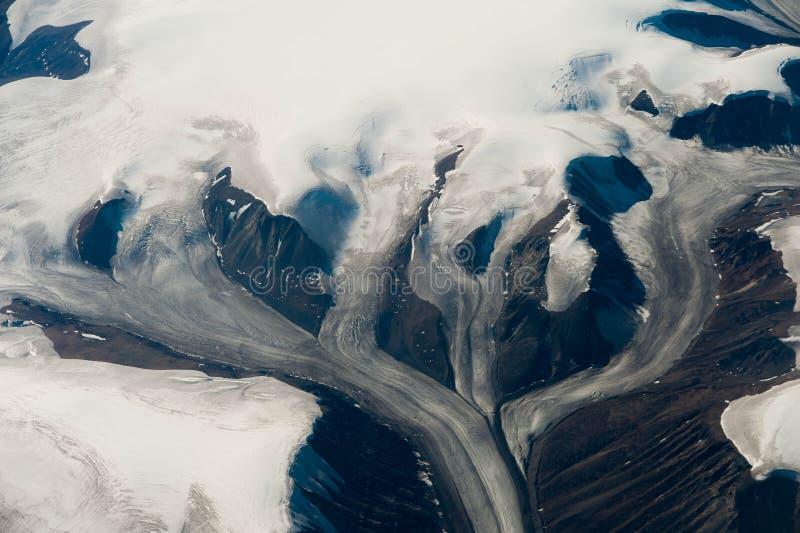 冰川在格陵兰 免版税库存照片