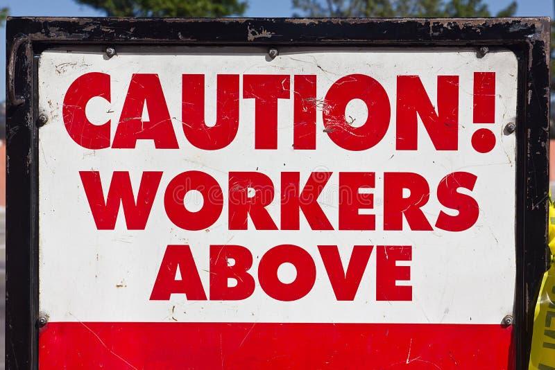上面小心工作者 免版税库存照片