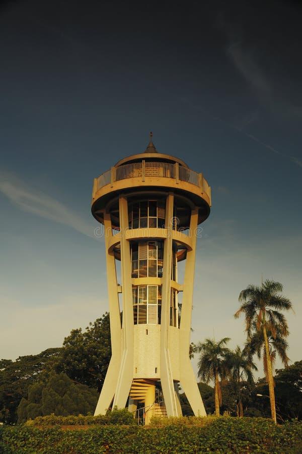 上面的Seletar查看塔 免版税库存照片
