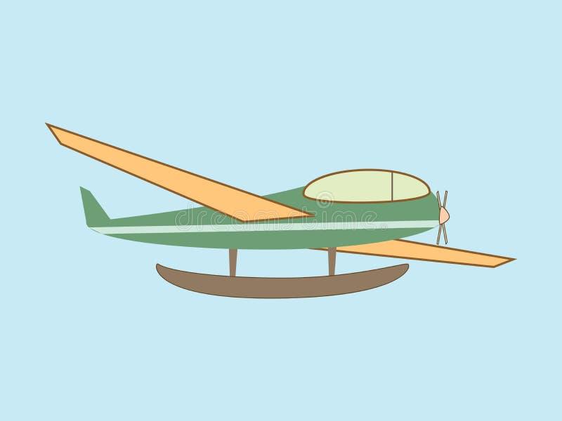 水上飞机水上飞机运输航空 皇族释放例证
