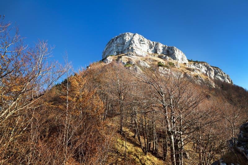登上Klak,从Mala Fatra山的秋季看法 库存照片
