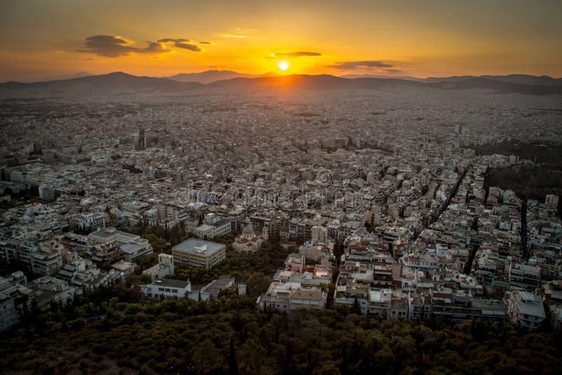登上Lycabbetus,雅典 免版税库存照片