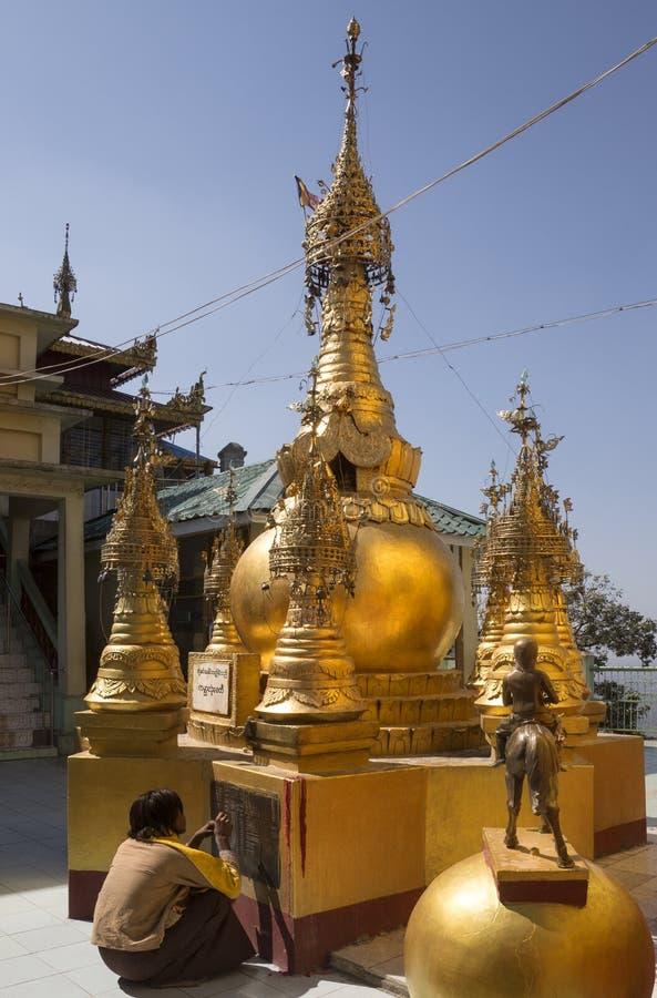 登上Popa -缅甸 免版税库存图片