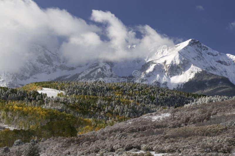 登上Sneffels山脉在秋天 库存照片