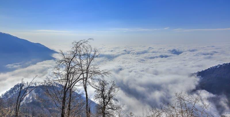 从登上Tufandag的看法 Gabala 阿塞拜疆 库存图片