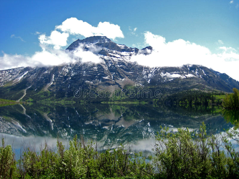 登上Vimy在沃特顿湖国家公园 免版税库存照片