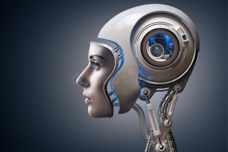 下一代靠机械装置维持生命的人 向量例证