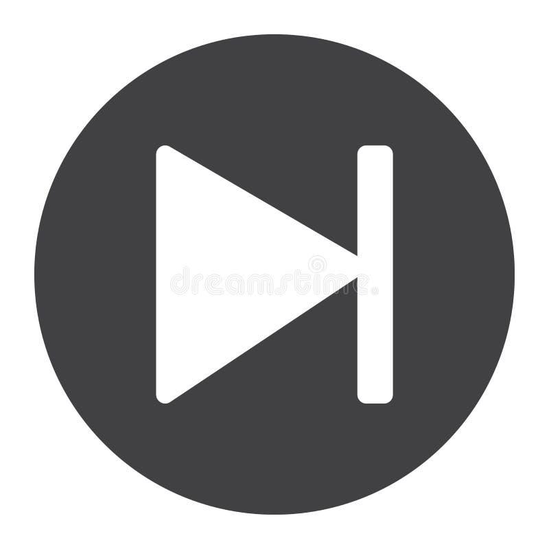 下个按钮纵的沟纹象、网和流动,音频标志 向量例证