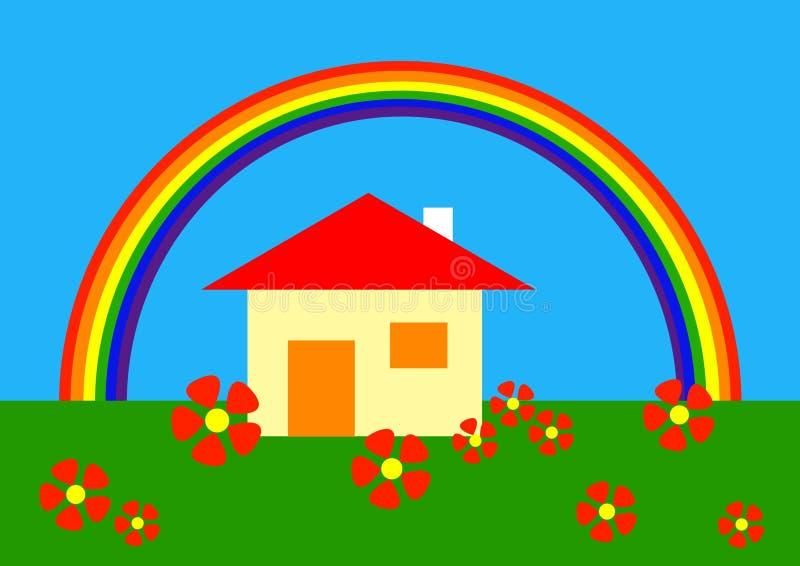 下动画片彩虹 向量例证