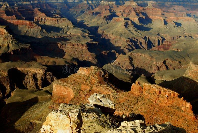 下午峡谷全部霍皮族点 免版税库存图片