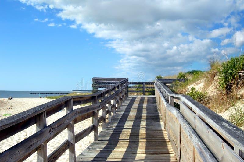 下午海滩海角查尔斯影子 库存图片