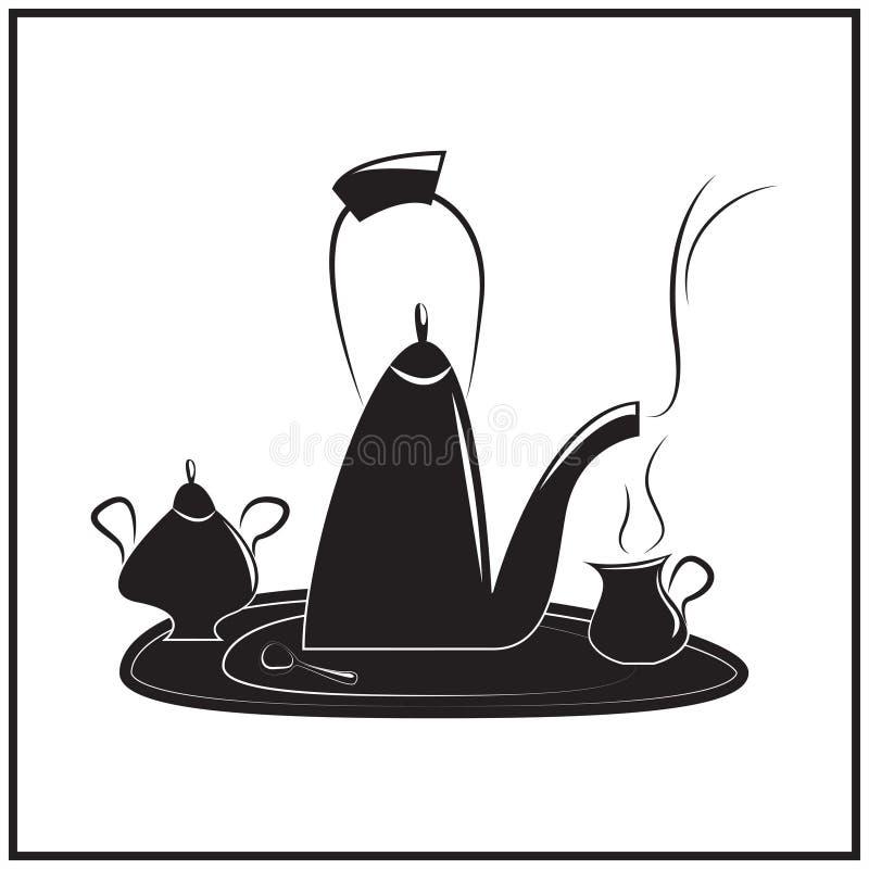 下午茶时间的例证 库存例证