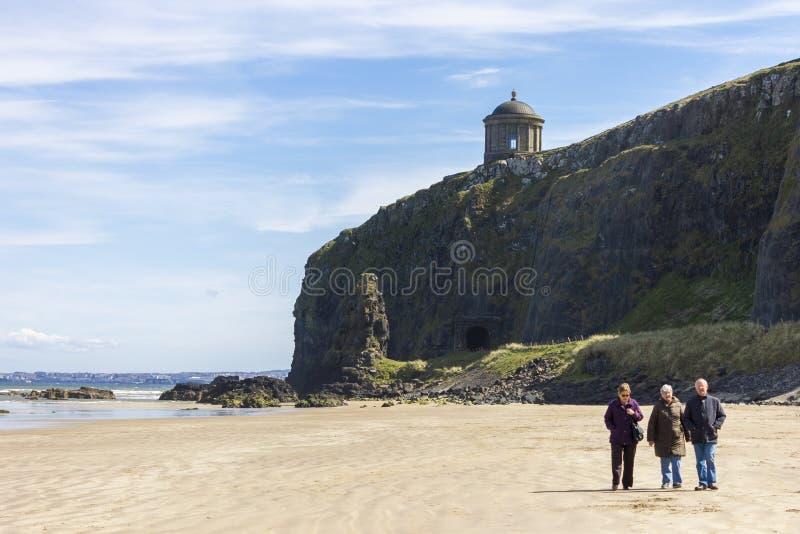 下坡海滩,北爱尔兰 库存照片