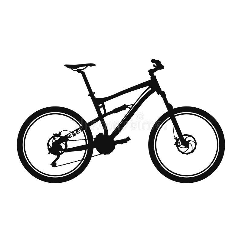 下坡自行车 库存例证