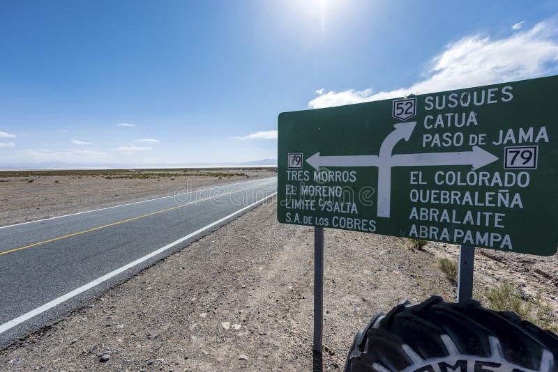 下垂在盐沼Grandes在Jujuy,阿根廷 库存图片