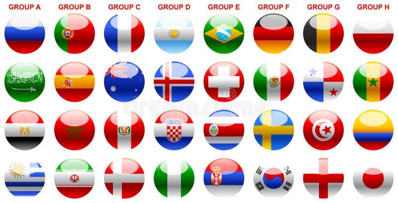 下垂s世界杯足球俄罗斯2018年 库存例证