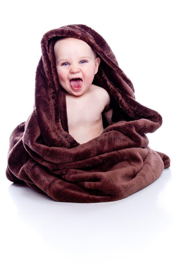 下婴孩毛巾 免版税图库摄影