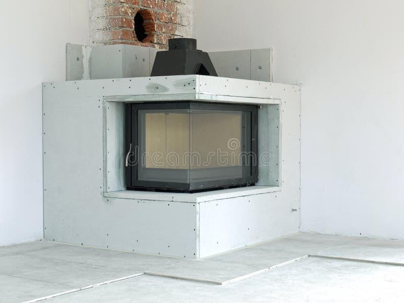 下建筑壁炉 免版税库存图片