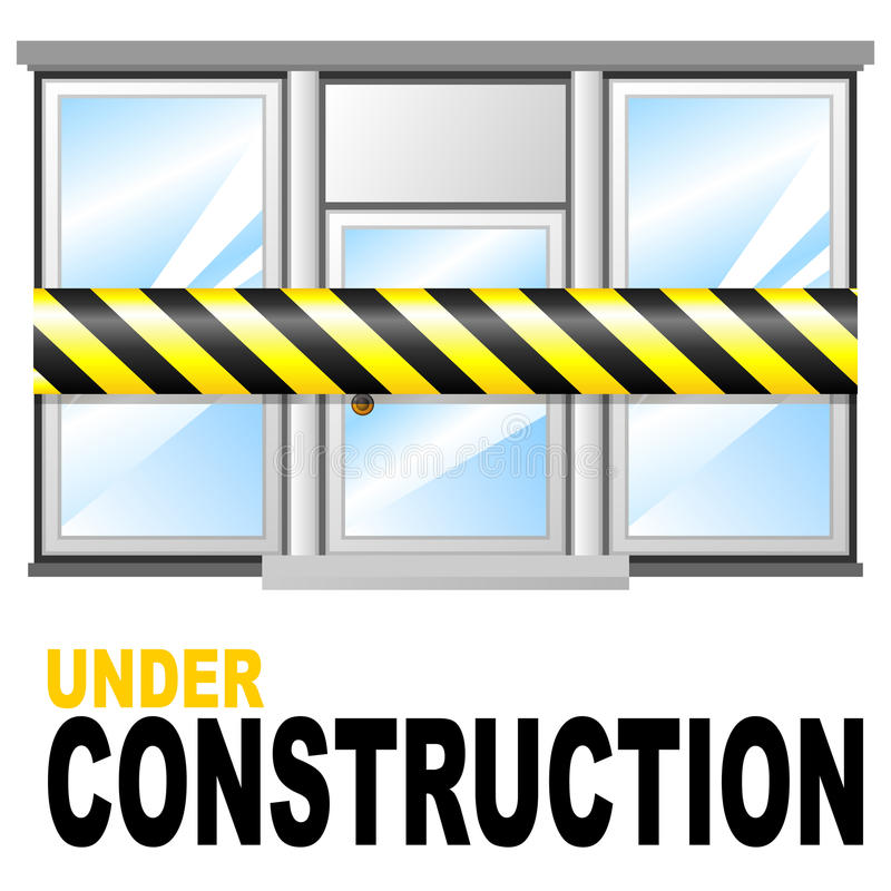 下建筑界面 向量例证