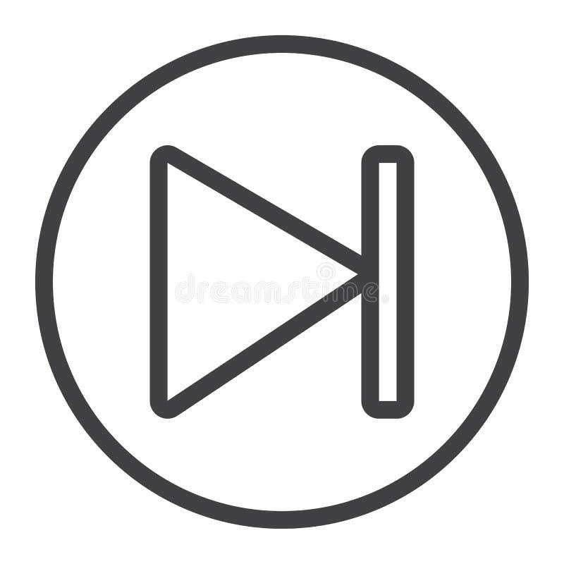 下条按钮线象、网和流动,音频标志 皇族释放例证