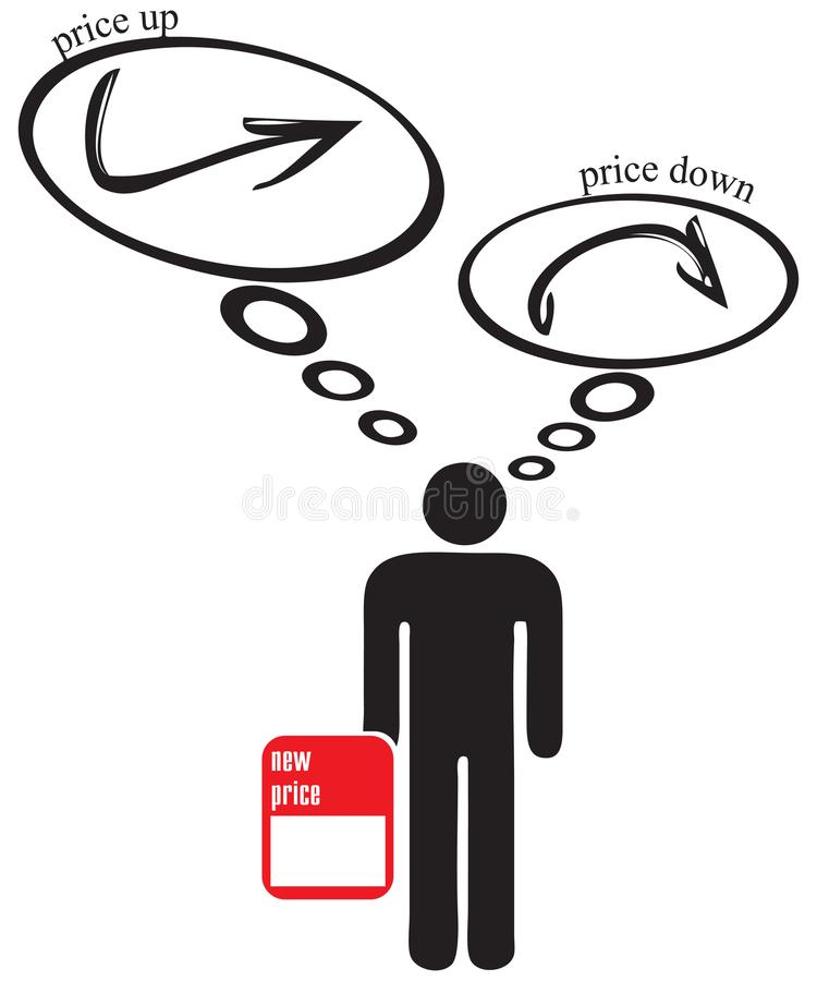 下来价格或价格 库存例证