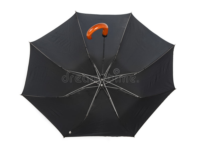 下来伞增长 免版税库存照片