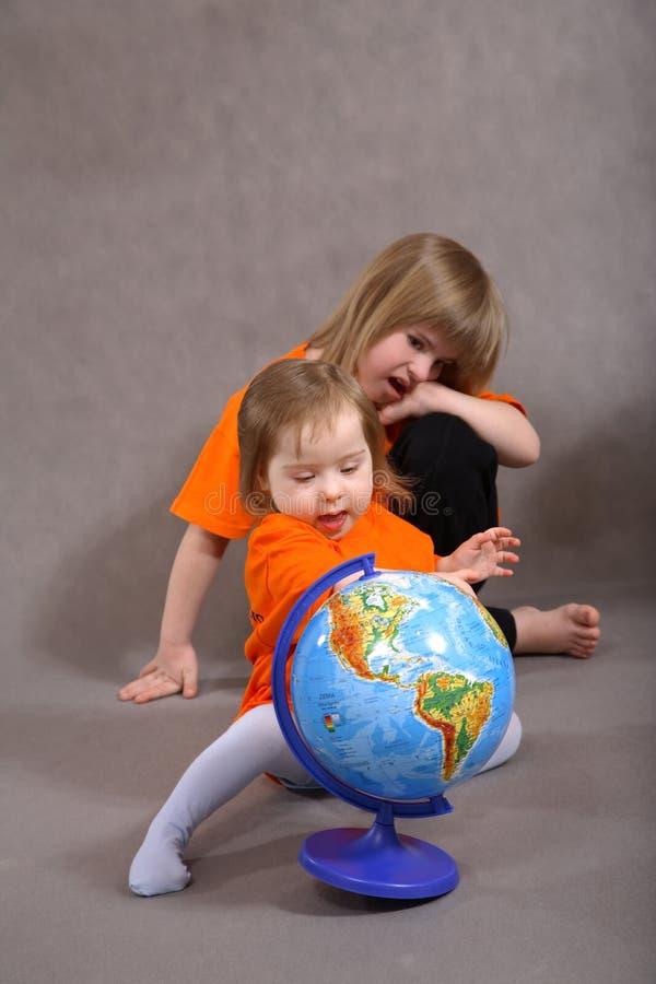 下来儿童s综合症状 免版税库存图片