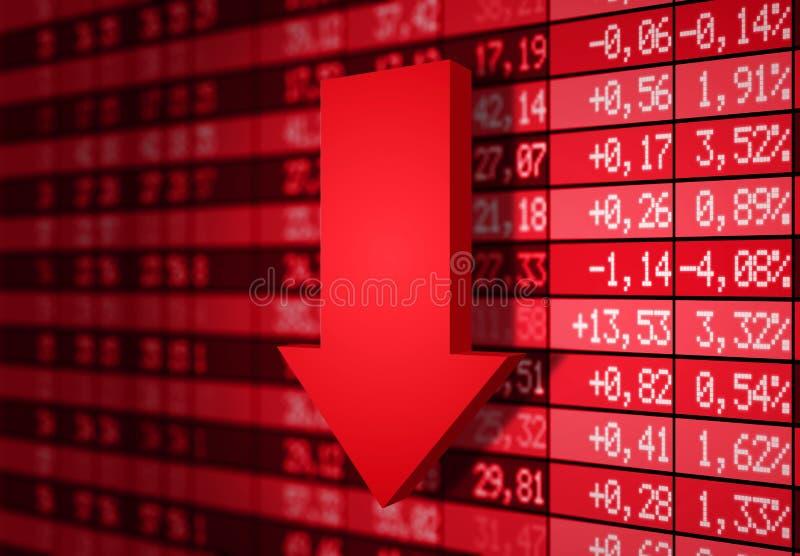 下来市场股票 向量例证