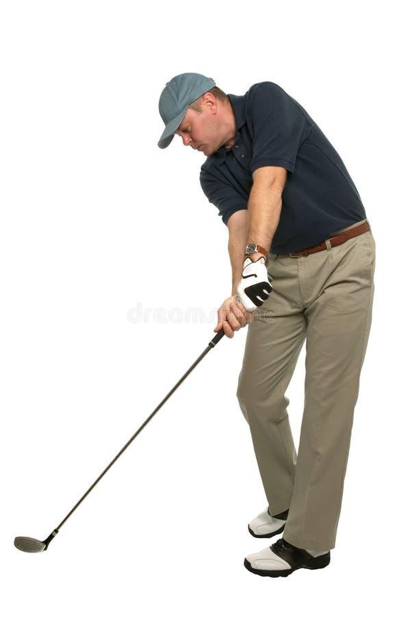 下来打高尔夫球题头 图库摄影