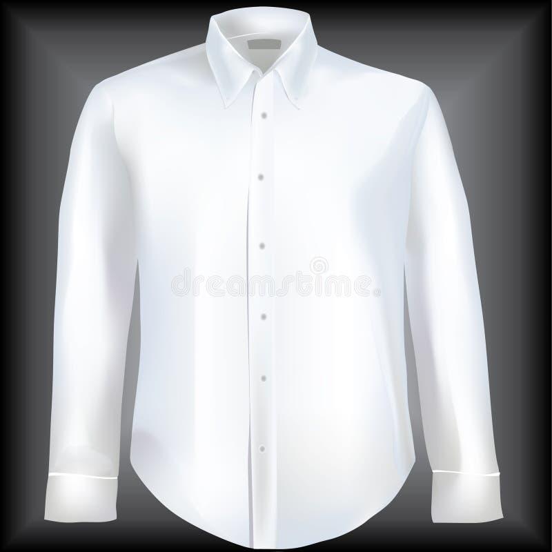 下来按钮衣领正式衬衣 库存例证