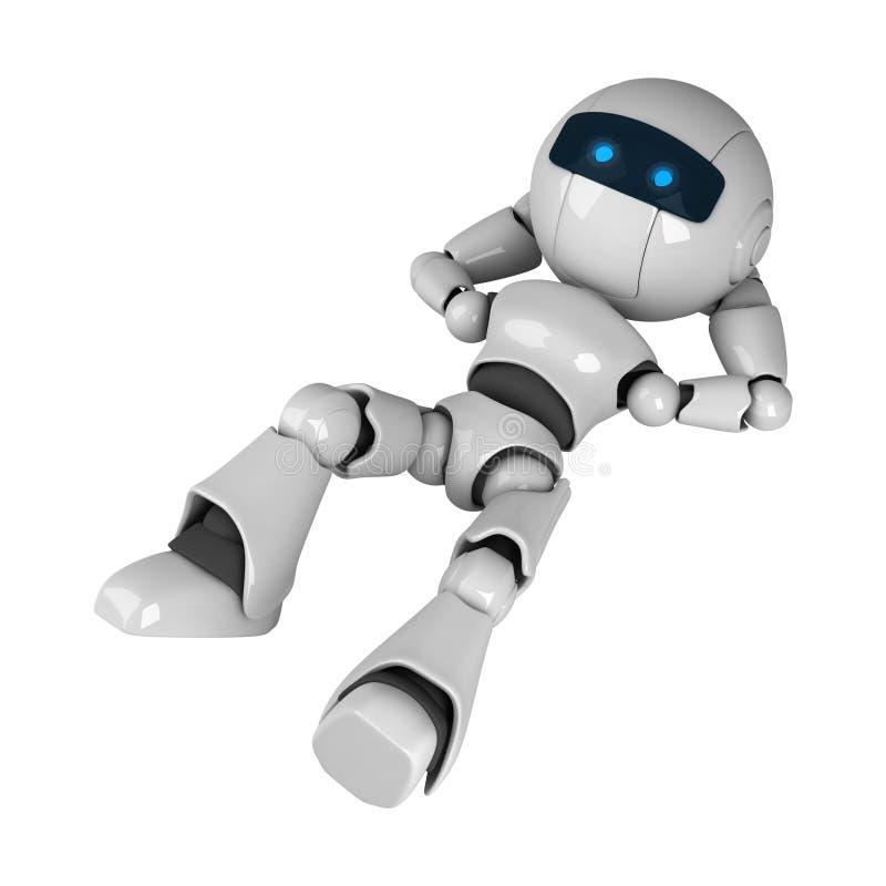 下来放置机器人 库存例证