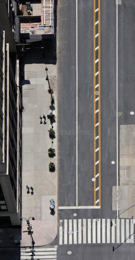 下来查找nyc街道 免版税库存照片