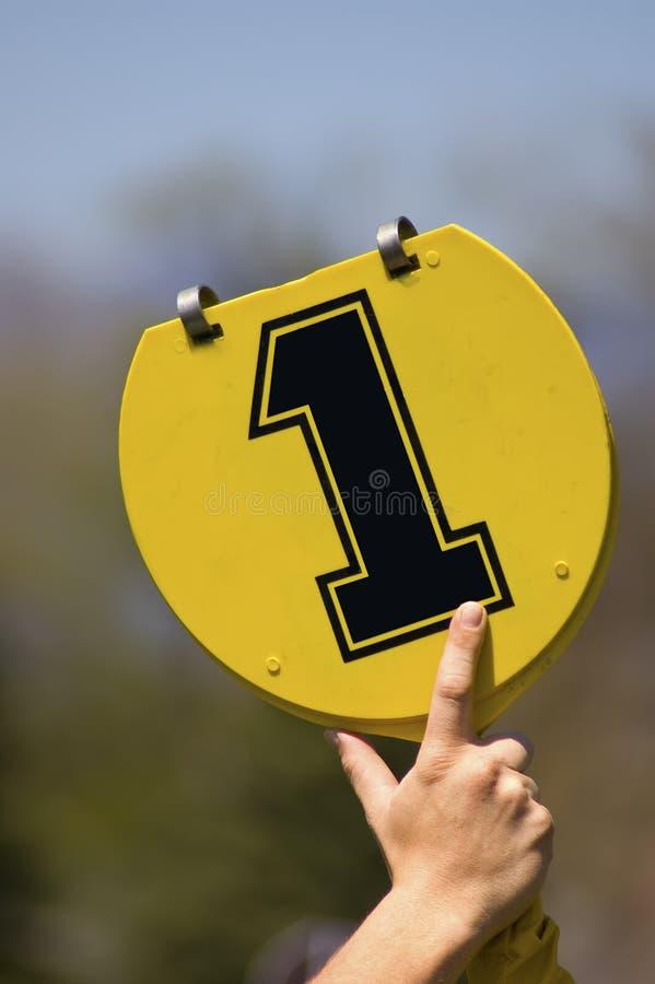 下来第一个橄榄球标记 免版税图库摄影