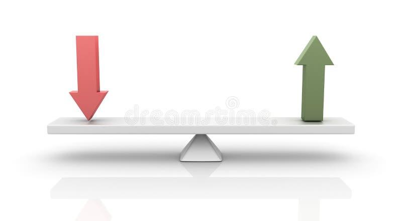 下来箭头平衡 向量例证
