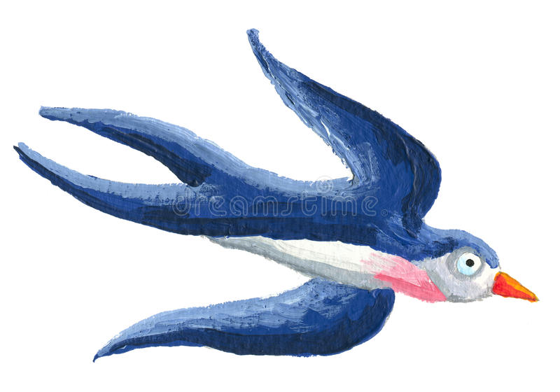 下来飞行的燕子 向量例证