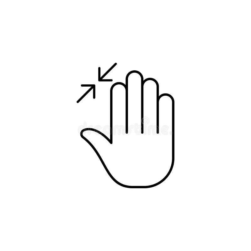 下来,手指,手,重击,三概述象 简单的象,流动app,信息图表的元素网站的 签署符号 皇族释放例证