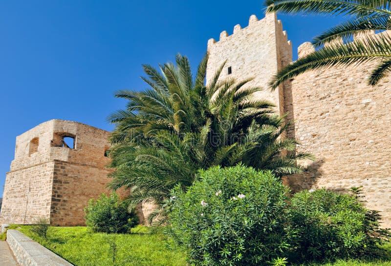 下来medina城镇 免版税库存图片